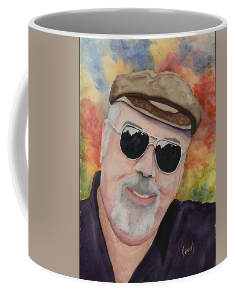Sam Coffee Mug featuring the painting Self Portrait With Sunglasses by Sam Sidders