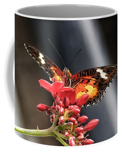 Coffee Mug featuring the photograph Self Propelled Flower - 2 by OLena Art Brand