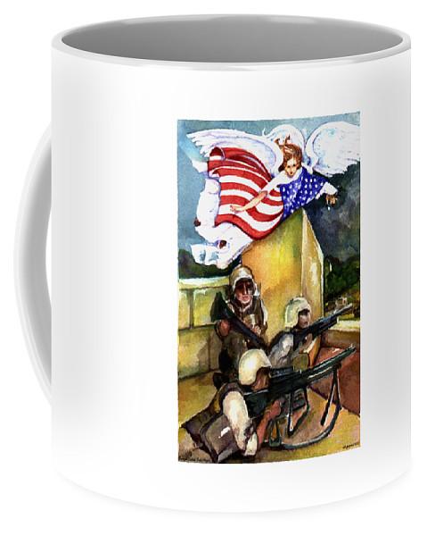 Elle Fagan Coffee Mug featuring the painting Semper Fideles - Iraq by Elle Smith Fagan