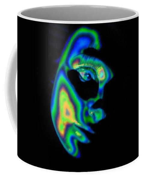 Abstract Coffee Mug featuring the digital art Sender by Steven Scanlon