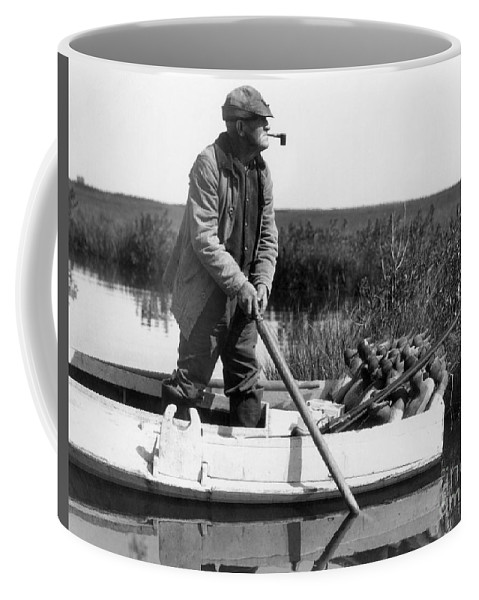 1920s Coffee Mug featuring the photograph Senior Man Hunting Ducks, C.1920-30s by H. Armstrong Roberts/ClassicStock