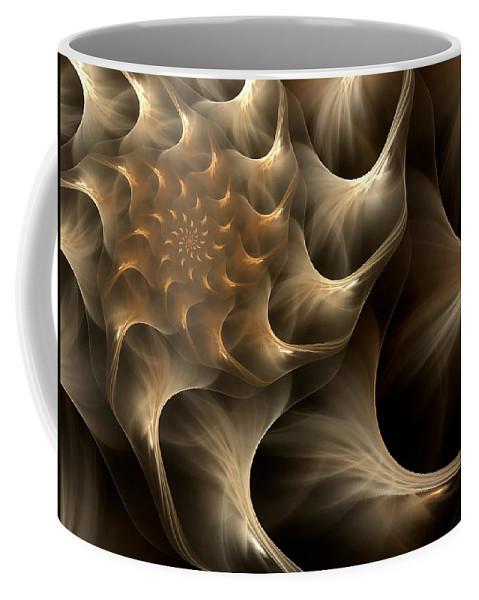 Abstract Coffee Mug featuring the digital art Sensual Satin by Georgiana Romanovna
