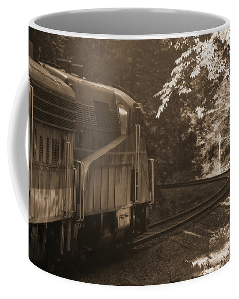Cheat Mountain Coffee Mug featuring the photograph Sepia Cheat Mountain Salamander 2 by Cathy Lindsey