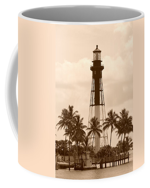 Sepia Coffee Mug featuring the photograph Sepia Light House by Rob Hans
