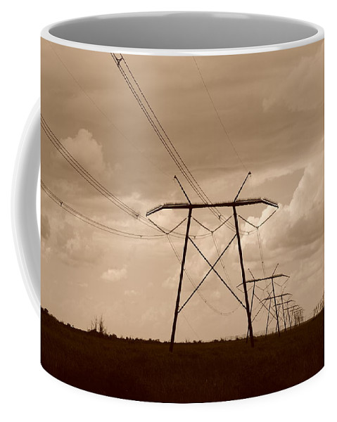 Sepia Coffee Mug featuring the photograph Sepia Power by Rob Hans