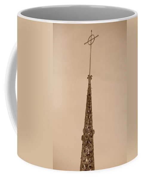 Sepia Coffee Mug featuring the photograph Sepia Spire by Rob Hans