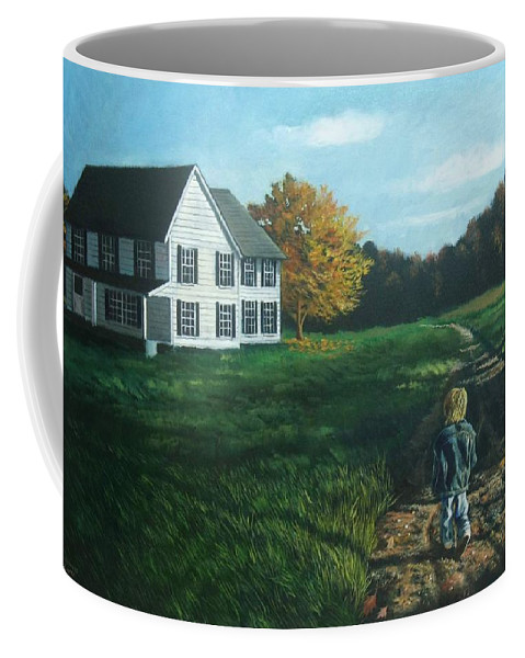 Pennsylvania Coffee Mug featuring the painting September Breeze Number 4 by Christopher Shellhammer