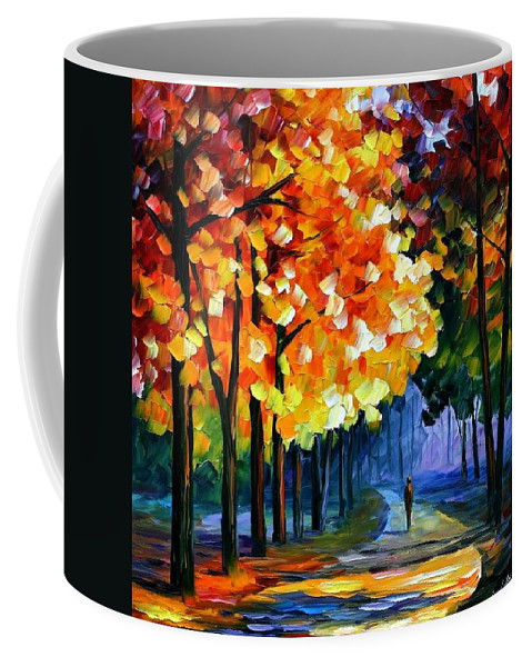 Afremov Coffee Mug featuring the painting September by Leonid Afremov