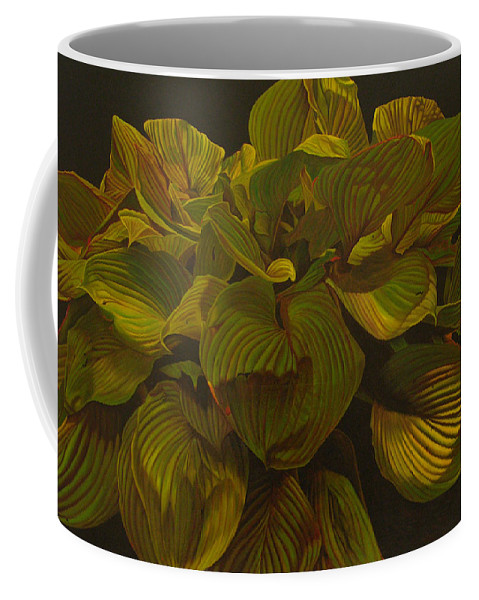 Plant Coffee Mug featuring the painting September Night by Thu Nguyen