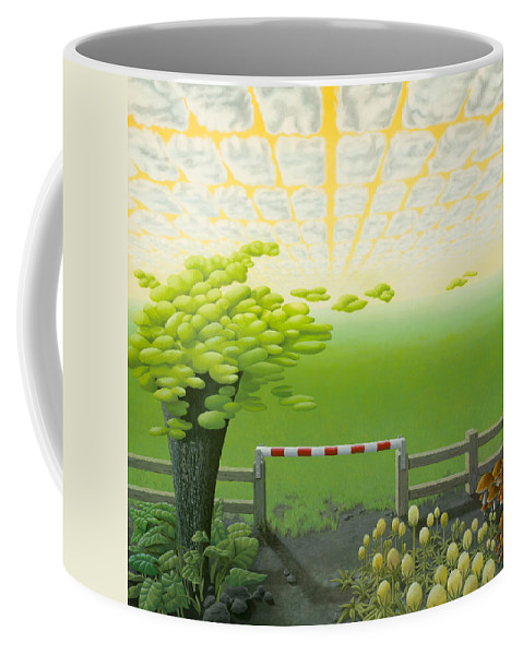 Tree Coffee Mug featuring the painting September by Patricia Van Lubeck