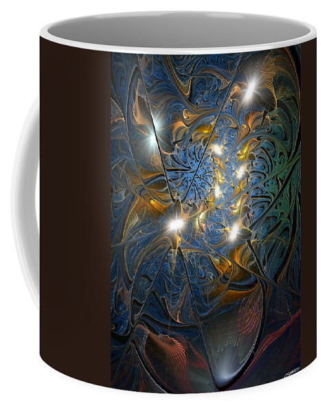 Abstract Coffee Mug featuring the digital art Serendipitous Trope by Casey Kotas