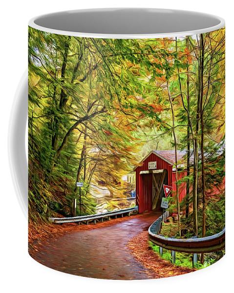 Pennsylvania Coffee Mug featuring the photograph Serendipity - Painted 2 by Steve Harrington