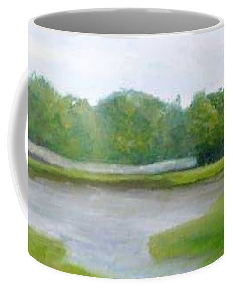 Landscape Coffee Mug featuring the painting Serene Vista by Sheila Mashaw