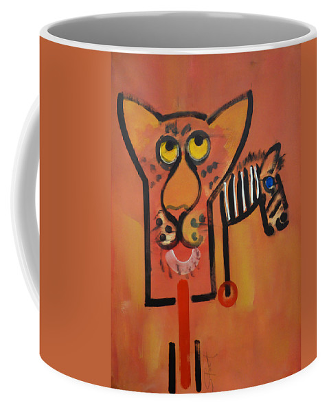 Big Cat Coffee Mug featuring the painting Serengeti Cat by Charles Stuart