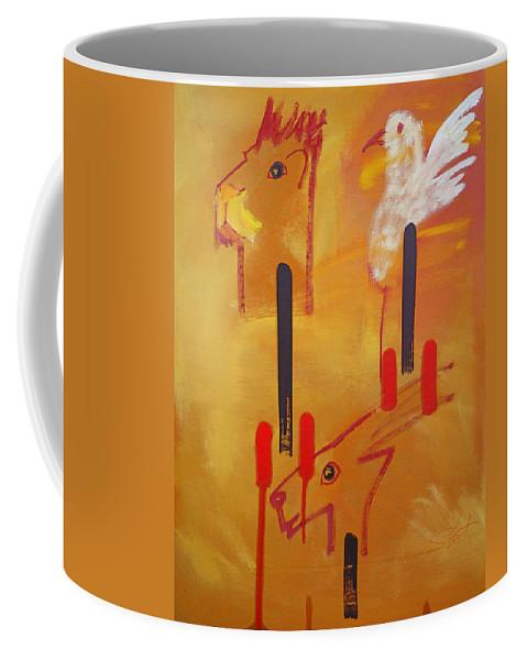 Lion Coffee Mug featuring the painting Serengeti by Charles Stuart