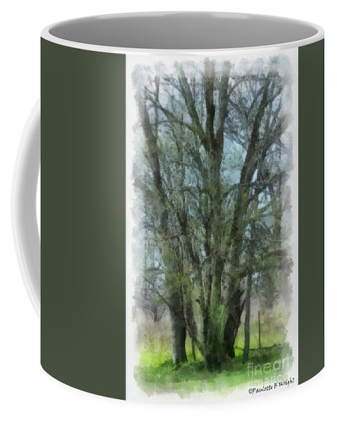 Trees Coffee Mug featuring the photograph Serenity by Paulette B Wright