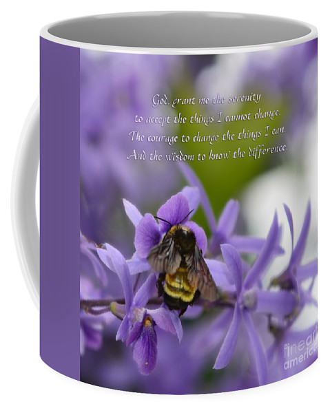 Serenity Prayer Coffee Mug featuring the photograph Serenity Prayer by Olga Hamilton