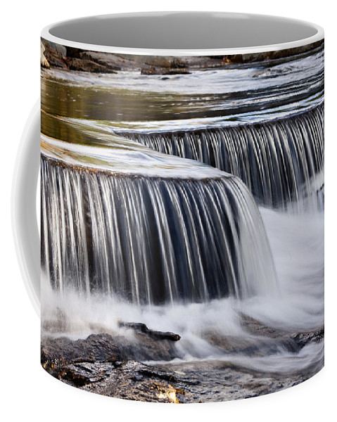 New England Coffee Mug featuring the photograph Serenity River by Dan Leffel