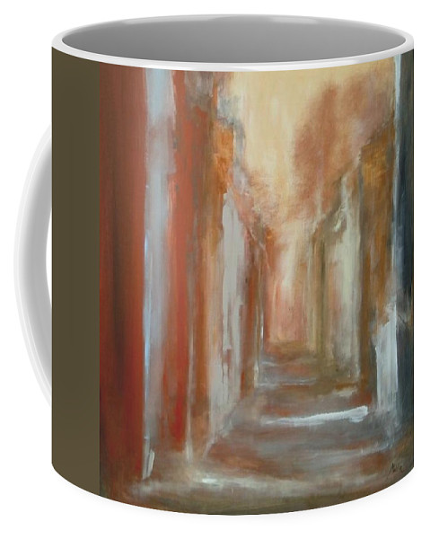 Abstract Coffee Mug featuring the painting Serenity by Rome Matikonyte
