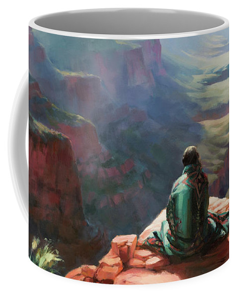 Southwest Coffee Mug featuring the painting Serenity by Steve Henderson