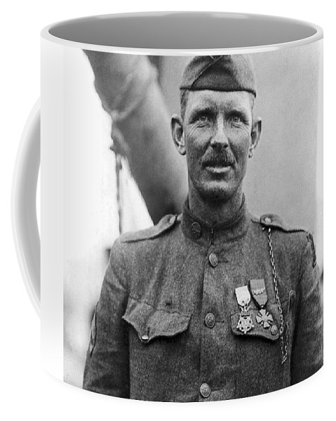 Alvin York Coffee Mug featuring the photograph Sergeant York - World War I Portrait by War Is Hell Store