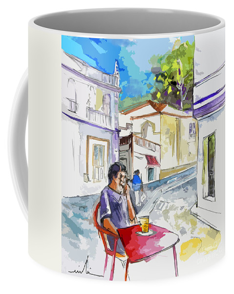 Portugal Paintings Coffee Mug featuring the painting Serpa Portugal 05 Bis by Miki De Goodaboom