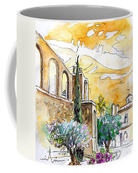 Portugal Paintings Coffee Mug featuring the painting Serpa Portugal 10 by Miki De Goodaboom