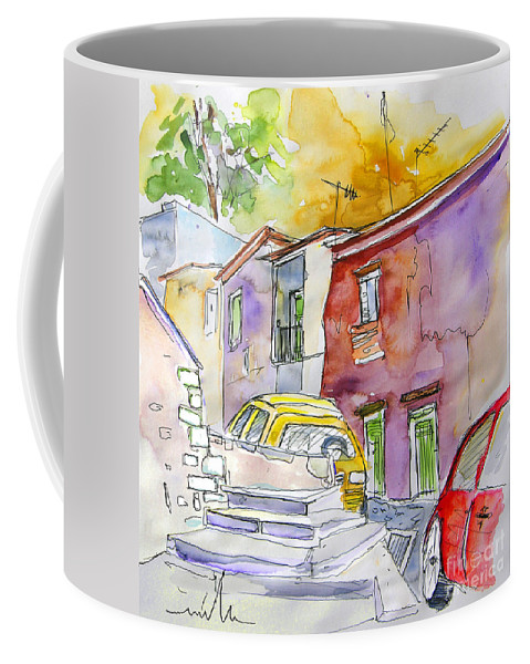 Portugal Paintings Coffee Mug featuring the painting Serpa Portugal 12 by Miki De Goodaboom