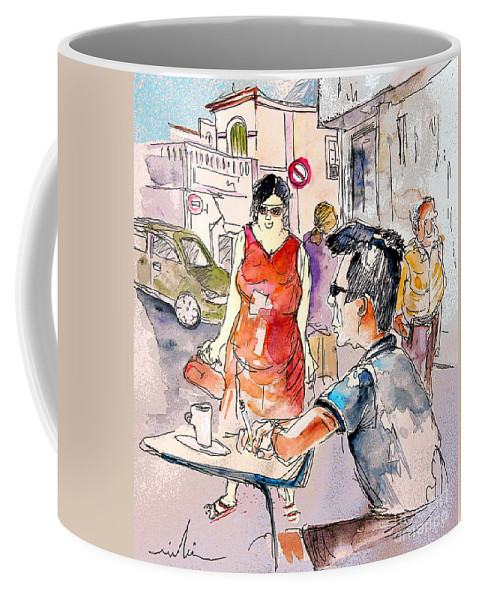Portugal Paintings Coffee Mug featuring the painting Serpa Portugal 16 by Miki De Goodaboom