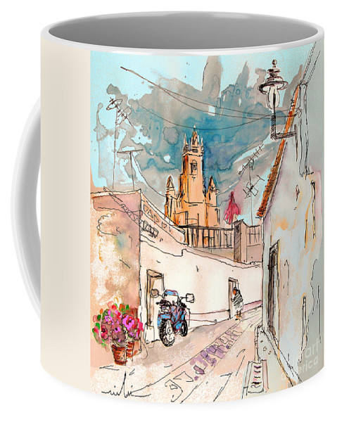 Portugal Paintings Coffee Mug featuring the painting Serpa Portugal 22 by Miki De Goodaboom