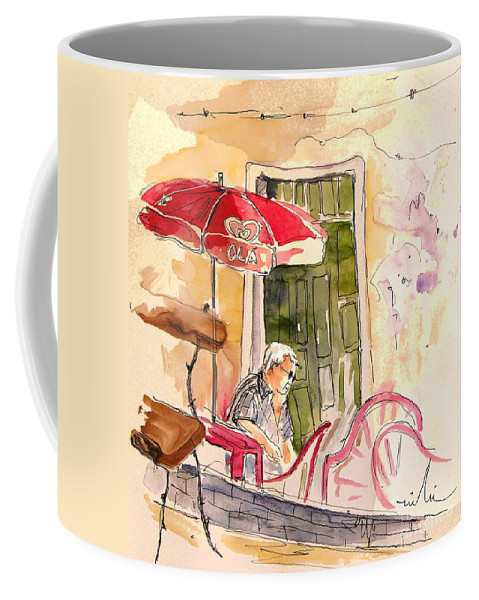 Portugal Paintings Coffee Mug featuring the painting Serpa Portugal 23 by Miki De Goodaboom