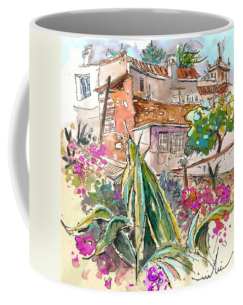 Portugal Paintings Coffee Mug featuring the painting Serpa Portugal 24 by Miki De Goodaboom