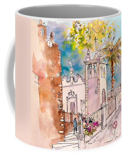 Water Colour Painting Serpa Portugal Coffee Mug featuring the painting Serpa Portugal 31 by Miki De Goodaboom
