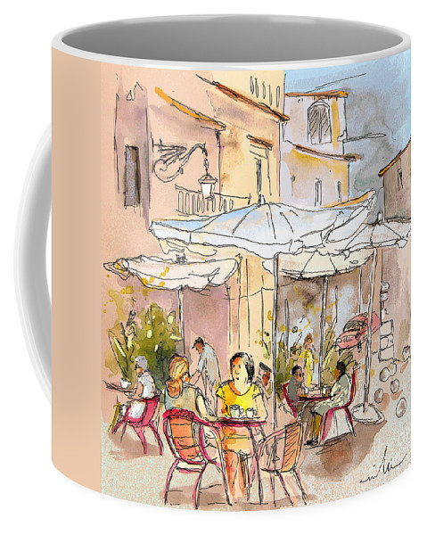 Coffee Mug featuring the painting Serpa Portugal 39 by Miki De Goodaboom