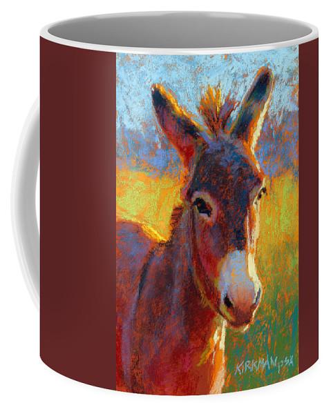 Donkey Coffee Mug featuring the pastel Serrano by Rita Kirkman
