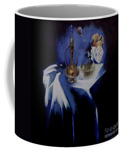 Lin Petershagen Coffee Mug featuring the painting Served by Lin Petershagen