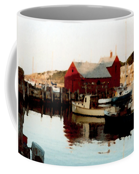 Rockport Coffee Mug featuring the painting Setting Sun by Paul Sachtleben