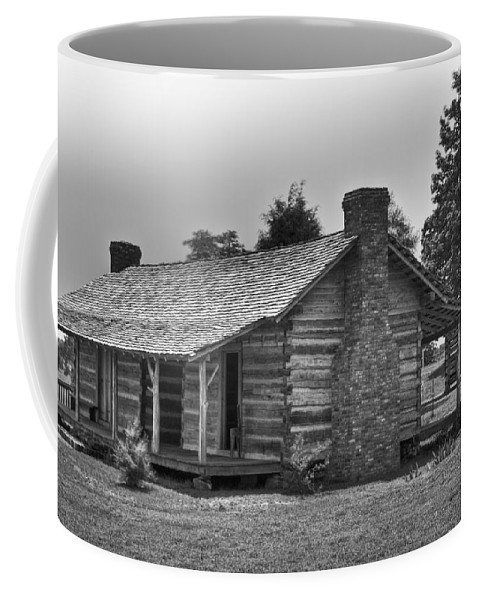 Settlers Coffee Mug featuring the photograph Settlers Cabin Tennessee by Douglas Barnett
