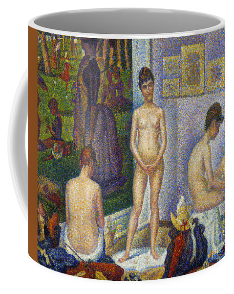 1866 Coffee Mug featuring the photograph Seurat: Models, C1866 by Granger