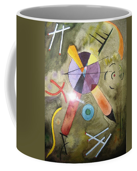 Abstract Painting After V.kandinsky. Matches Coffee Mug featuring the painting Seven Matches by Irina Stroup