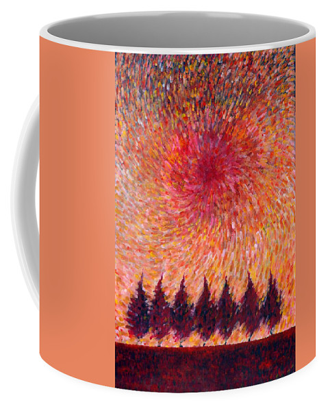 Colour Coffee Mug featuring the painting Seven Wishes by Wojtek Kowalski