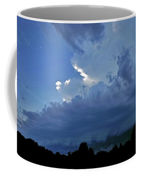 Nature Coffee Mug featuring the photograph Severe Weather And Waxing Crescent Moon by Matt Taylor