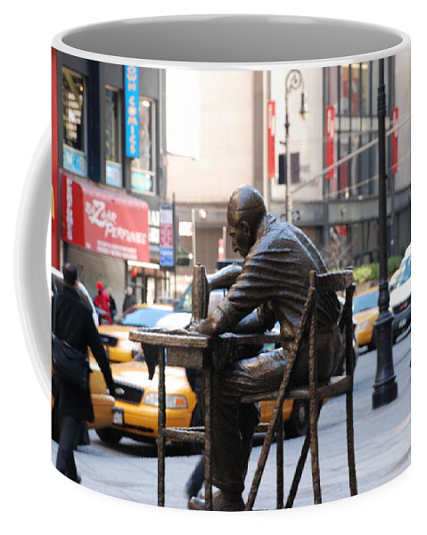 Sewing Machime Coffee Mug featuring the photograph Sewing Sculpture by Rob Hans