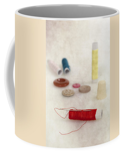 Needle Coffee Mug featuring the photograph Sewing Supplies by Joana Kruse