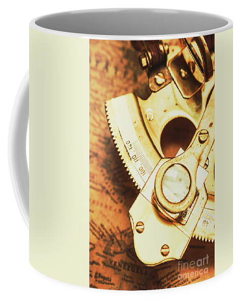 Navigation Coffee Mug featuring the photograph Sextant Sailing Navigation Tool by Jorgo Photography - Wall Art Gallery