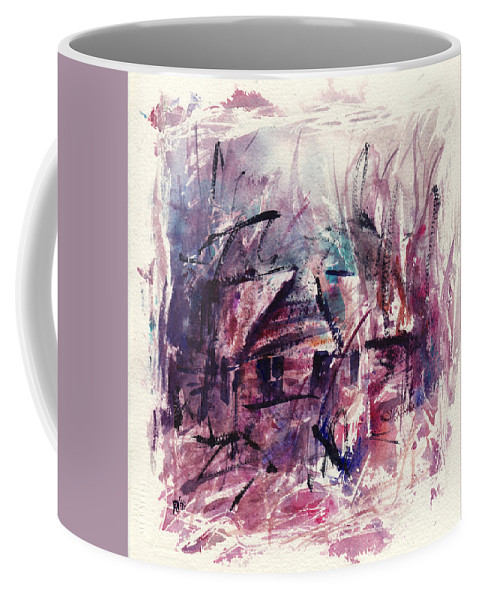 Shack Coffee Mug featuring the painting Shack First Movement by Rachel Christine Nowicki
