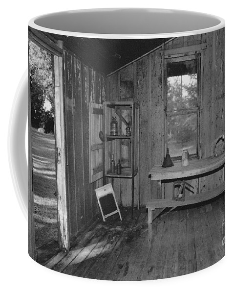 Black And White Coffee Mug featuring the photograph Shack House by Michelle Powell