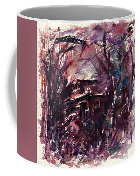 Shack Coffee Mug featuring the painting Shack Second Movement by Rachel Christine Nowicki