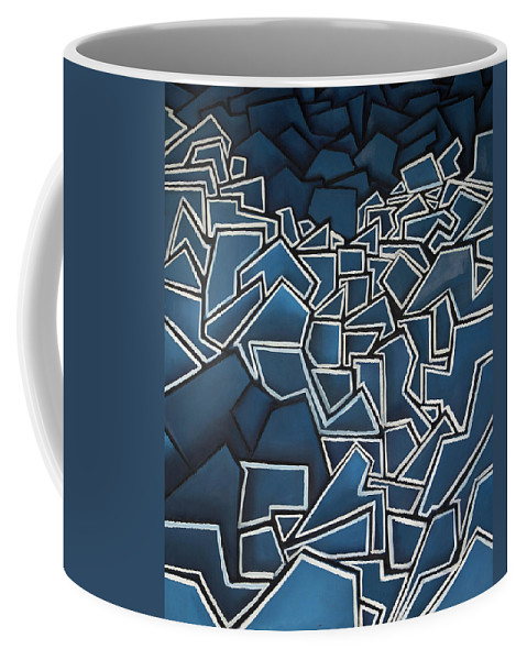 Abstract Coffee Mug featuring the painting Shadderd Space by Thomas Valentine