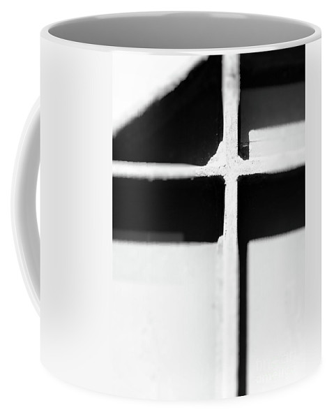 Abstract Coffee Mug featuring the photograph Shaded Cross by Fei A